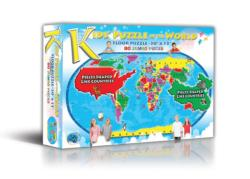 Kids' Puzzle of the World Geography Jigsaw Puzzle