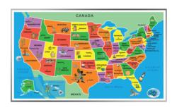 Kids' Puzzle of the USA United States Shaped