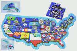 The USA Puzzle United States Shaped