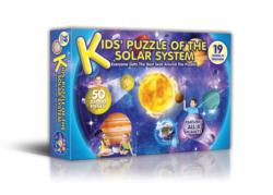 Kids' Puzzle of the Solar System Space Shaped Puzzle