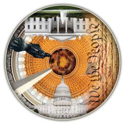 USA Capital (Round Table Puzzle) United States Shaped