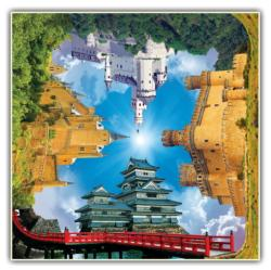 Castle Quartet Puzzle (4 Fronts Collection) Europe Jigsaw Puzzle