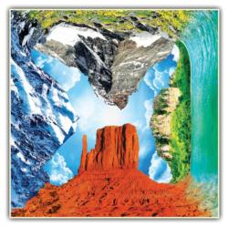 Nature's Wonders Puzzle (4 Fronts Collection) Europe Jigsaw Puzzle