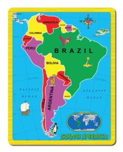 South America (The Continent Puzzle) Geography Jigsaw Puzzle