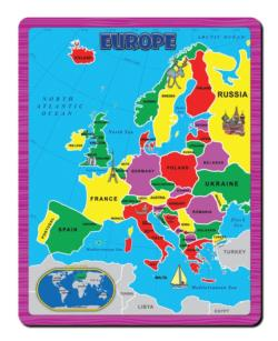 The Continent Puzzle - Europe Geography Children's Puzzles