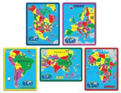 The Continent Puzzle Combo Pack Maps / Geography Jigsaw Puzzle