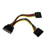 PYO2SATA 6 in. SATA Power Y Splitter Cable Adapter - M/F