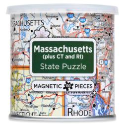 City Magnetic Puzzle Massachusetts, Connecticut, Rhode Island Cities Magnetic Puzzle