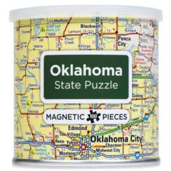 City Magnetic Puzzle Oklahoma Cities Magnetic Puzzle