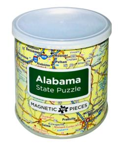 City Magnetic Puzzle Alabama Cities Magnetic Puzzle