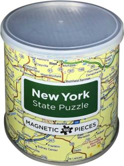 Magnetic Puzzle New York Maps / Geography Magnetic Puzzle