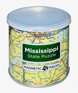 City Magnetic Puzzle Mississippi Cities Magnetic Puzzle