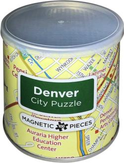 Magnetic Puzzle Denver Maps / Geography Magnetic Puzzle