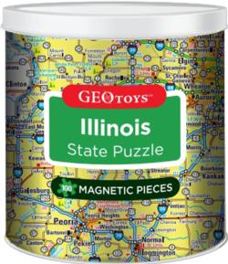 Magnetic Puzzle - Illinois Maps / Geography Magnetic Puzzle