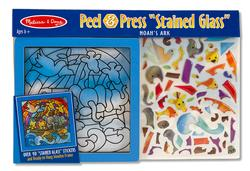 Peel and Press - Noah's Ark Religious Glitter / Shimmer / Foil Puzzles
