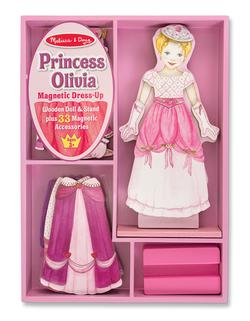 Princess Olivia Magnetic Dress-Up Pretend Play Toy