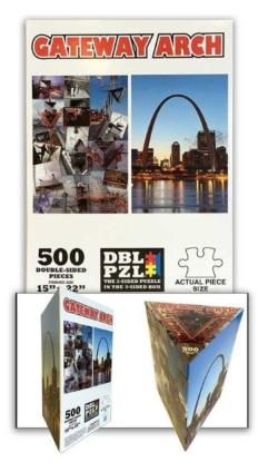 Gateway Arch Landmarks / Monuments Double Sided Puzzle