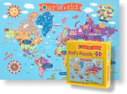 Kid's World Map Maps / Geography Children's Puzzles