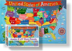 Kid's USA Floor Puzzle Maps / Geography Children's Puzzles