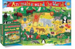 Kid's Animals Around the World Maps / Geography Children's Puzzles
