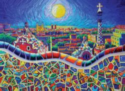 Magical Barcelona Night Spain Jigsaw Puzzle