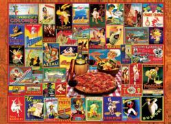 Pasta, Pizza & Wine Collage Jigsaw Puzzle