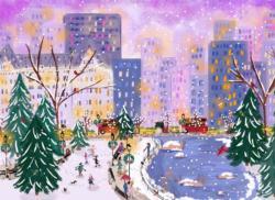 Flurry at Twilight Snow Jigsaw Puzzle