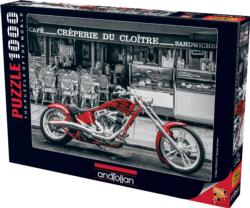 Red Chopper Vehicles Jigsaw Puzzle
