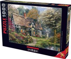 Victorian Garden Cottage/Cabin Jigsaw Puzzle