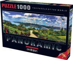Bosphorus From Otagtepe Landscape Panoramic Puzzle