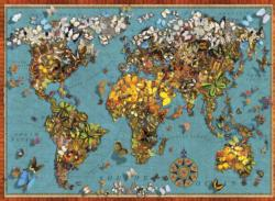 Butterfly World Map Maps / Geography Jigsaw Puzzle