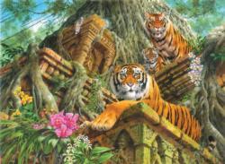 Temple Tigers Tigers Jigsaw Puzzle
