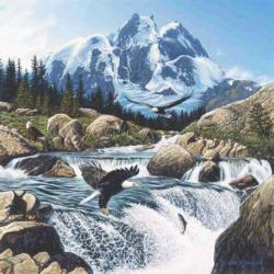 Fishing at Eagle Rocks Lakes / Rivers / Streams Jigsaw Puzzle