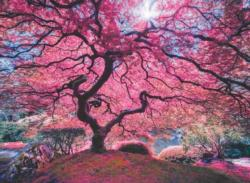 Pink Tree Flowers Jigsaw Puzzle