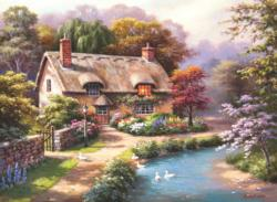 Duck Path Cottage Cottage / Cabin Jigsaw Puzzle