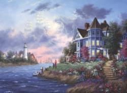 Victorian Fantasy Seascape / Coastal Living Jigsaw Puzzle