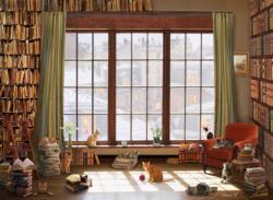 Window Cats Domestic Scene Jigsaw Puzzle