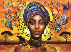 Delightful Woman Africa Jigsaw Puzzle