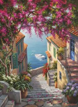 Stairs To The Sea Italy Jigsaw Puzzle
