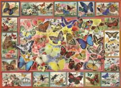 Lots Of Butterflies Collage Jigsaw Puzzle