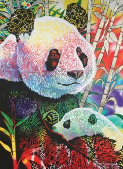 Rainbow Panda Pandas Jigsaw Puzzle