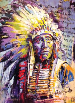 Chief Seattle Cultural Art Jigsaw Puzzle