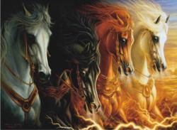 Four Horses of the Apocalypse Fantasy Jigsaw Puzzle