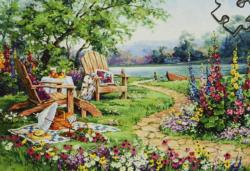 Lakeside Afternoon Lakes / Rivers / Streams Jigsaw Puzzle