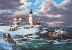 Portland head Lighthouse - Scratch and Dent Lighthouses Jigsaw Puzzle