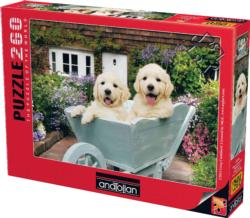 Puppies In A Wheelbarrow Baby Animals Jigsaw Puzzle