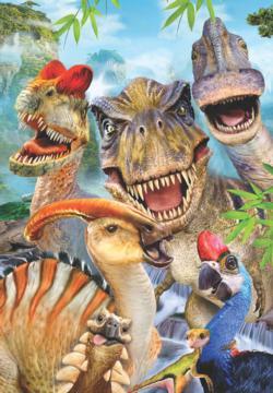 Dino Selfie Dinosaurs Jigsaw Puzzle