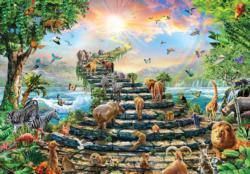 Stairway to Heaven Animals Jigsaw Puzzle