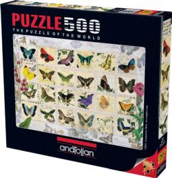 Butterfly Stamps Collage Jigsaw Puzzle