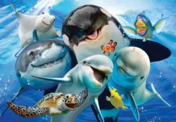Ocean Selfie Fish Jigsaw Puzzle